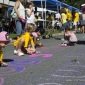 Block Party chalk drawing