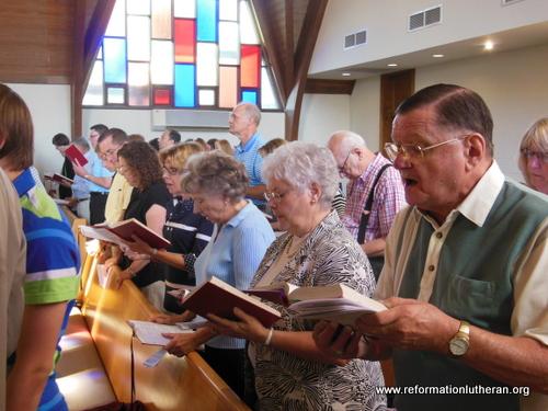 Congregation at worship 1