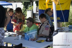 Reformation Lutheran Church boy scouts block party