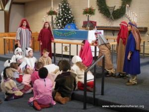 Reformation Lutheran Church nativity Christmas program pageant