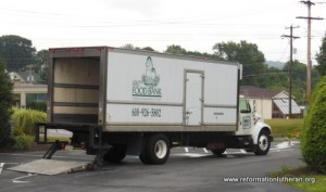 Reformation Lutheran Church Exeter Area Food Pantry truck