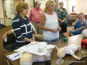 Reformation Lutheran Church health ministry AED training