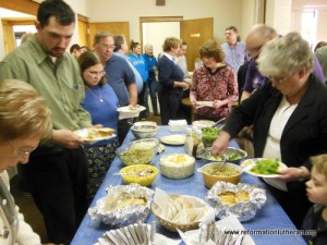Reformation Lutheran Church Lent Lenten dinner soup and salad