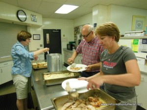 Reformation Lutheran Church Opportunity House serving meal