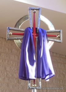 Reformation Lutheran Church processional cross Lent