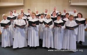 Reformation Lutheran Church singers singing choir