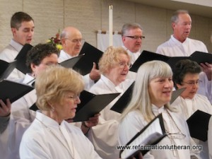 Reformation Lutheran Church singers singing choir